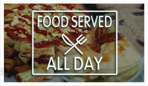 Ba819-Food-served-All-Day-Restaurant-Banner-Shop-Sign